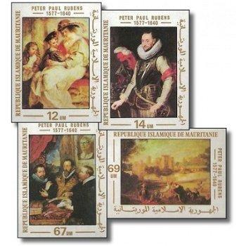400. Geburtstag von Peter Paul Rubens - 4 Briefmarken ungezähnt postfrisch, Katalog-Nr. 590-593, Mau
