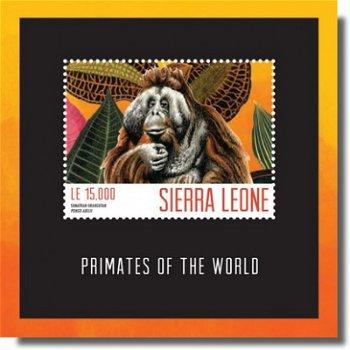 Affen - Briefmarken-Block postfrisch, Sierra Leone