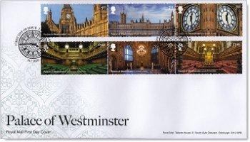 Wiederaufbau des Westminster Palastes - Ersttagsbrief, Großbritannien