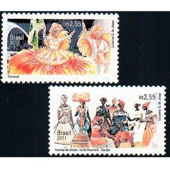 Diplomatische Beziehung mit Belgien - 2 Briefmarken postfrisch, Brasilien