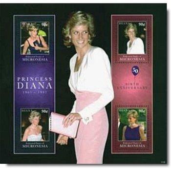 Lady Diana - Briefmarken-Block postfrisch, Micronesien