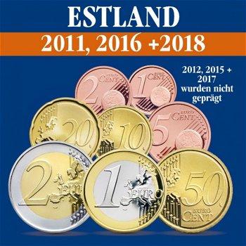 Estland - Kursmünzensätze 2011, 2016 und 2018