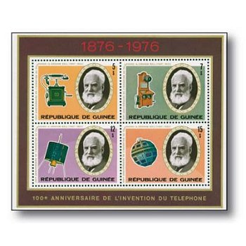 100 Jahre Telefon - Briefmarken-Block postfrisch, Guinea