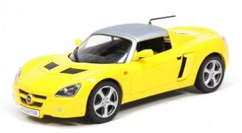 Modellauto:Opel Collection:Opel Speedster von 2000-2005, gelb(Maßstab 1:43)