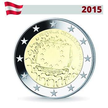 2 Euro Münze 2015, 30 Jahre Europaflagge, Österreich