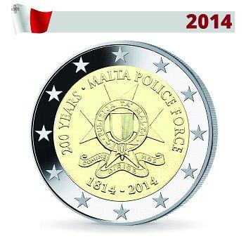 2-Euro-Münze 2014, Maltesische Polizei, Malta