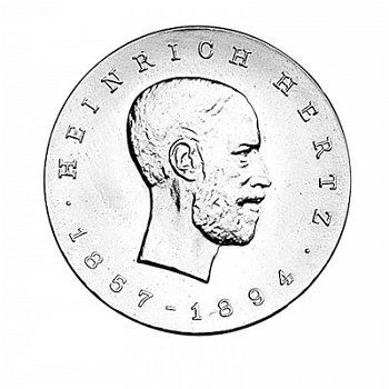 """5-Mark-Münze 1969 """"75. Todestag Heinrich Hertz"""", DDR"""