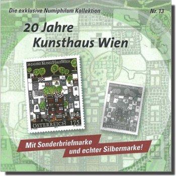 """20 Jahre KunstHaus Wien """"Entwurf von Hundertwasser"""" - Numiphilum Kollektion, Katalog-Nr. 2"""