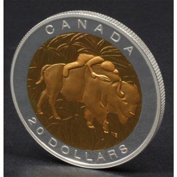 Die heilige Tugend Respekt, 20 Dollar Silbermünze mit Teilvergoldung, Canada