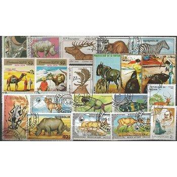 Tiere - 100 verschiedene Briefmarken