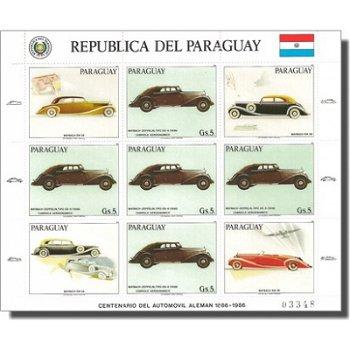 Maybach-Automobile - Briefmarken-Kleinbogen, Katalog-Nr. 3993, Paraguay