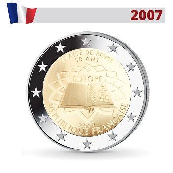 50 Jahre Römische Verträge, 2 Euro Münze 2007, Frankreich