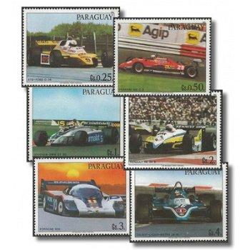 Rennwagen - 6 Briefmarken postfrisch, Katalog-Nr. 3586-3591, Paraguay