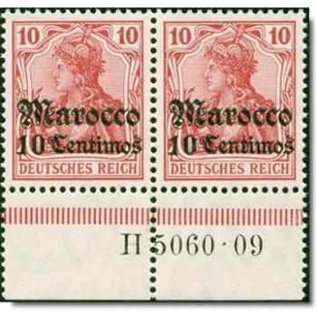 Deutsche Post Marokko - Katalog-Nr. 36 HAN AH 5060.09 waagrechtes Paar, postfrisch