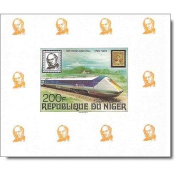 100. Todestag von Rowland Hill - 4 Luxusblocks postfrisch, Katalog-Nr. 662-665, Niger