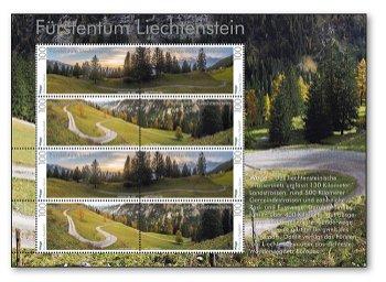 Wege durch die Alpenwelt - Briefmarkenblock postfrisch, Liechtenstein