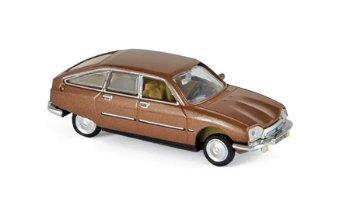Modellauto:Citroen GS Pallas von 1978, braun-metallic(Norev, 1:87)