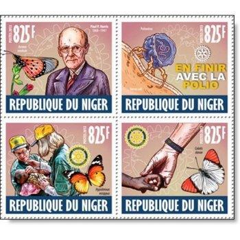 Paul P. Harris - 4 Briefmarken postfrisch, Niger