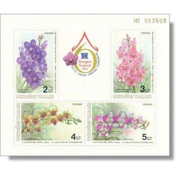 Orchideen - Briefmarken-Block postfrisch, Katalog-Nr. 1179-1182 Bl. 17, Thailand
