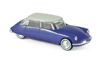 Modellauto:Citroen DS 19 von 1959, blau-weiß(Norev, 1:87)