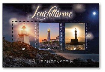 Leuchttürme - Briefmarkenblock postfrisch, Liechtenstein
