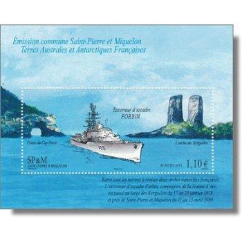 """Geschwader-Geleitschiff """"Forbin"""" - Briefmarken-Block postfrisch, St. Pierre et Miquelon"""