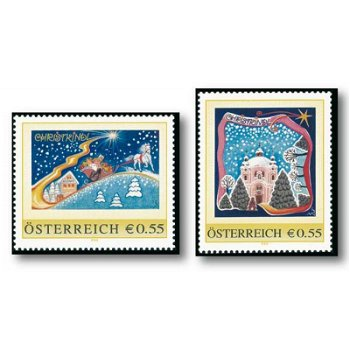 2 Christmas stamps from Austria, my brand