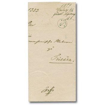 Vorphilatelie - Dienstbrief nach Triesen 1879, Liechtenstein