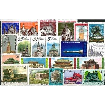 Bauwerke - 50 verschiedene Briefmarken