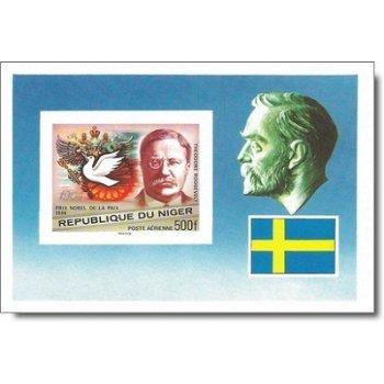 75 Jahre Nobelpreisverleihung - Briefmarken-Block ungezähnt postfrisch, Katalog-Nr. 591 Bl. 17B, Nig