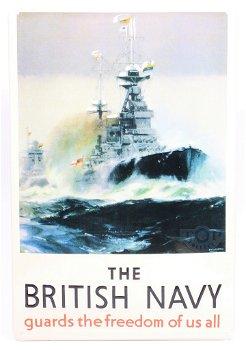 Blechschild:The British Navy(20 x 30 cm)