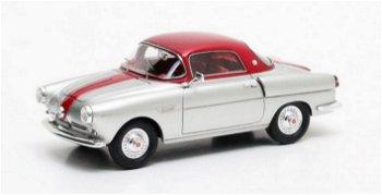 Modellauto:Fiat 600 Viotti Coupé von 1959, silber/rot(Matrix, 1:43)