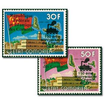 150 Jahre Eisenbahn Liverpool – Manchester - zwei Briefmarken mit Aufdruck, postfrisch, Katalog-Nr.