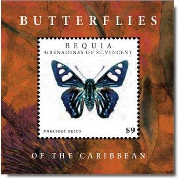 Schmetterlinge der Karibik - Briefmarken-Block postfrisch, St. Vincent und Grenadinen