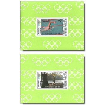 Olympische Sommerspiele 1984, Los Angeles - 4 Luxusblocks postfrisch, Katalog-Nr. 812B-815B, Elfenbe