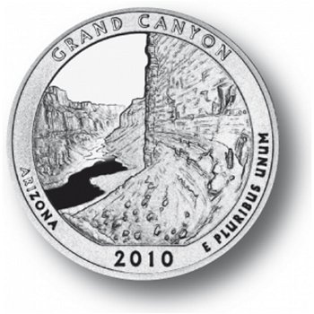 Grand Canyon/Arizona, Nationalpark Quarter Münze, USA