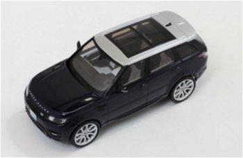 Modellauto:Range Rover Sport 2014, dunkelblau-silber(Premium X, 1:43)