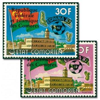 """Fußball-Weltmeisterschaft 1982, Spanien """"Aufdruck"""" - 2 Briefmarken postfrisch, Katalog-Nr."""