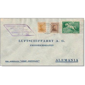 3. Südamerikafahrt LZ 127 1931 - Katalog-Nr. 137, uruguayische Zeppelinpost