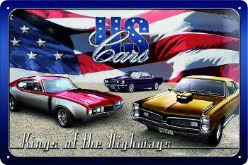 Blechschild:- US Cars -(Nostalgic Art, 20 x 30 cm)