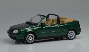 Modellauto:VW Golf Cabrio von 1999, dunkelgrün(Minichamps,1:43)