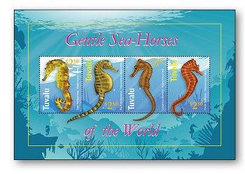 Seepferdchen - Briefmarkenblock postfrisch, Tuvalu