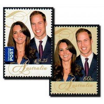 Royal Wedding - Prinz William und Kate - 2 Briefmarken postfrisch, Katalog-Nr. 3558-3559, Australien