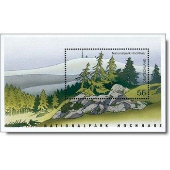"""Deutsche National- und Naturparks """"Hochharz"""", Block 59 postfrisch, Katalog-Nr. 2268, Bunde"""