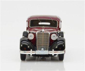 Modellauto:Mercedes-Benz 260 D Pullman Landaulet - geschlossen, von 1936-1940, dunkelrot-schwarz(Esv