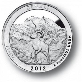 Denali/Alaska, Nationalpark Quarter Münze, USA