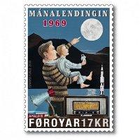 50 Jahre Mondlandung - Briefmarke postfrisch, Färöer