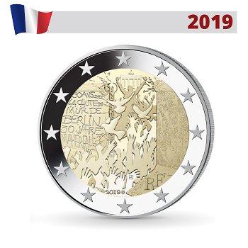 30 Jahre Mauerfall, 2 Euro Münze 2019, Frankreich