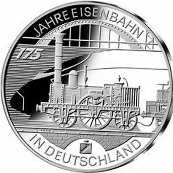 175 Jahre Eisenbahn, 10-Euro-Silbermünze 2010, Polierte Platte