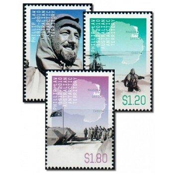 100. Geburtstag von Phillip Law - 3 Briefmarken postfrisch, Katalog-Nr. 200-202, Australische Gebiet